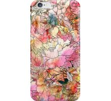 Colorful Watercolor Floral Pattern Abstract Sketch iPhone Case/Skin