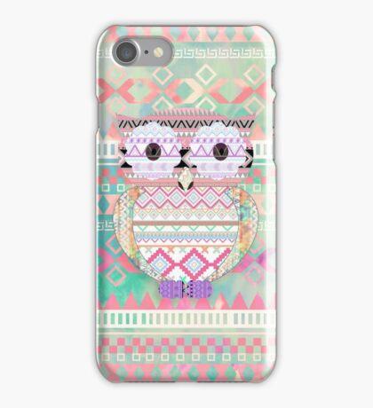 Whimsical Tribal Owl Pastel Girly Tie Dye Aztec iPhone Case/Skin