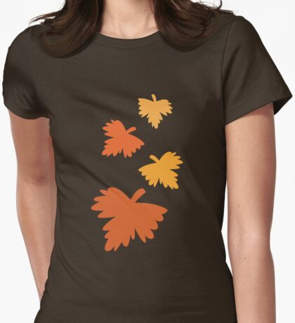4 fall autumn leaves Womens Fitted T-Shirt