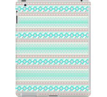 Trendy Mod Bright Teal Pink Abstract Aztec Pattern  iPad Case/Skin