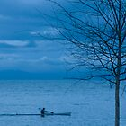Paddler at Dusk by fotoWerner