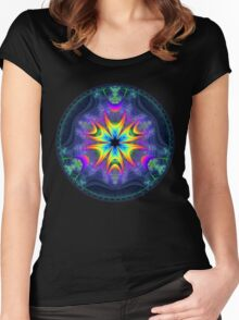 'Lifecircle Bloom' Women's Fitted Scoop T-Shirt