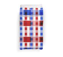 Red White Blue Blocks Duvet Cover