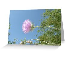 Purple in the Sky Greeting Card