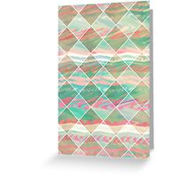 Girly Modern Pastel Geometric Diamond Shapes Greeting Card