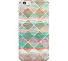 Girly Modern Pastel Geometric Diamond Shapes iPhone Case/Skin