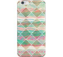 Girly Modern Pastel Geometric Diamond Shapes iPhone Case/Skin