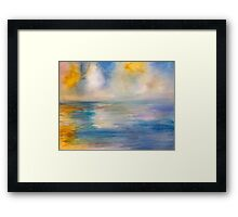 Clouds in Playa Framed Print