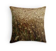 Feel The Wind In The Field Throw Pillow