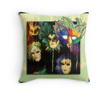Happy Masks Throw Pillow