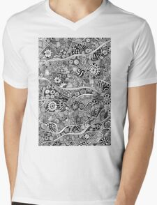 Flowers Mens V-Neck T-Shirt