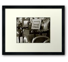Vintage Chairs Framed Print