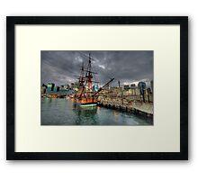 Endeavour - HMB Endeavour - Australian National Maritime Museum - The HDR Experience Framed Print