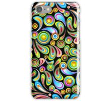 Drops Psychedelic Abstract Pattern   iPhone Case/Skin