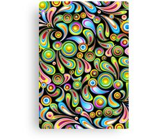 Abstract Colorful Drops Canvas Print