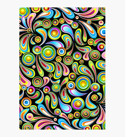 Drops Psychedelic Abstract Pattern   Photographic Print