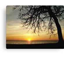 lever du soleil Canvas Print