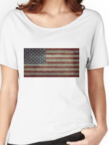 "Flag of the United States of America - Authentic ratio 10:19 ""G-spec"" for ""government specification"" Women's Relaxed Fit T-Shirt"