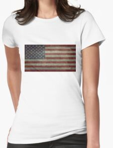 """Flag of the United States of America - Authentic ratio 10:19 """"G-spec"""" for """"government specification"""" Womens Fitted T-Shirt"""