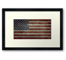 """Flag of the United States of America - Authentic ratio 10:19 """"G-spec"""" for """"government specification"""" Framed Print"""