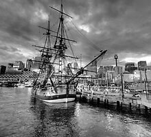 Endeavour - HMB Endeavour (Monochrome)  - Australian National Maritime Museum - The HDR Experience by Philip Johnson