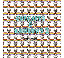 cupcakes & rainbows 2 Photographic Print