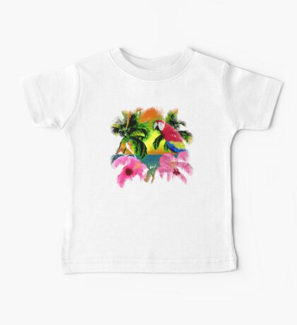 Palm Trees And Island Sunsets Baby Tee