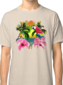 Palm Trees And Island Sunsets Classic T-Shirt