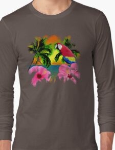 Palm Trees And Island Sunsets Long Sleeve T-Shirt