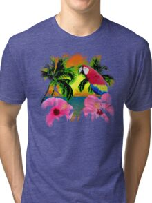 Palm Trees And Island Sunsets Tri-blend T-Shirt