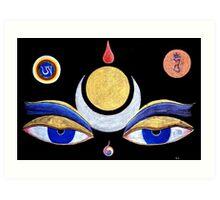 first up. buddha eyes,drawing Art Print