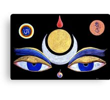 first up. buddha eyes,drawing Canvas Print