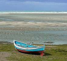 Wooden Boat on Beach by Nick Jenkins