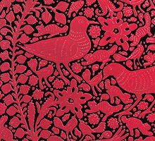 Red Bird Pattern by michaelwpg
