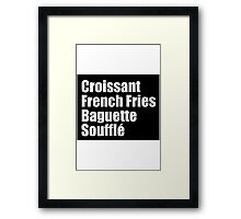 All the french foods Framed Print