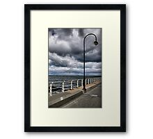 The storms rolling in! Framed Print