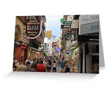 Calles de Espana! Greeting Card