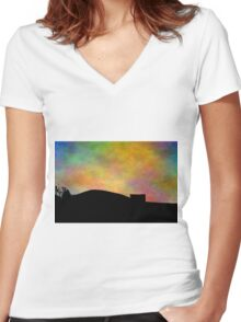 Country Comfort Women's Fitted V-Neck T-Shirt