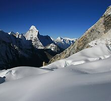 Ama Dablam East Face by Richard Heath