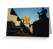 Statue on Roof, Firenze Greeting Card