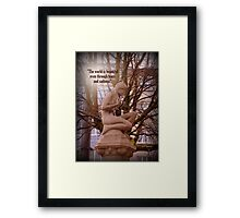 Sadness and Beauty Framed Print