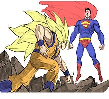 Goku vs Superman by Morgzlufc