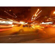bright lights, big taxi Photographic Print