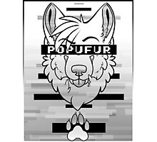 POPUFUR -grey- Photographic Print