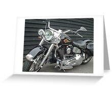 Harley Davidson motorbike Greeting Card