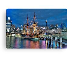 Fantasy Voyager - HMB Endeavour- The HDR Experience Canvas Print