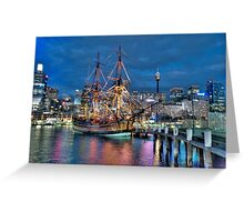 Fantasy Voyager - HMB Endeavour- The HDR Experience Greeting Card