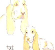 Lemon Basset Hounds by Carie Varner