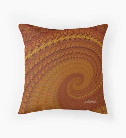 sd Abstract Fractal Browns 2C Throw Pillow
