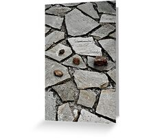 Pattern, stones Greeting Card